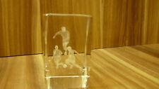 3D Glasblock 3 Fußballer
