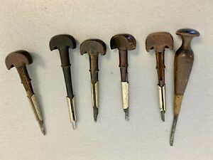 VERY NICE LOT OF 6 ANTIQUE GRAVERS WATCHMAKERS - JEWELERS - WITH NICE HANDLES