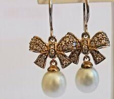 Thomas Sabo Pearl Bow Earrings Sterling Silver  BNIB rrp £150