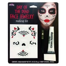Day of The Dead Make Up Face Sticker Kit Halloween Face Paint