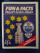 Wayne Gretzky 1983-84 Mcdonald's Edmonton Oilers MInt Empty Unused Album ONLY