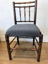Rustic grey seated Bedroom  Chair