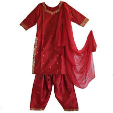 Salwar Kameez Schal  3 Teile Gr.36  38 Indien Bollywood sari kostüm Rot