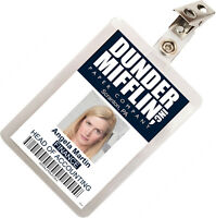 The Office Angela Martin Dunder Mifflin ID Badge Cosplay Costume Name Tag TO-5
