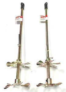 """Goldblatt 3-1/2"""" x 16"""" Two Wheel Mud Mixer 2 Pack G15343"""