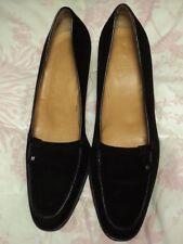 bally black suede heels 38.5 eu