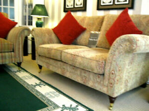 PARKER KNOLL BURGHLEY  2 SEATER SOFA IN BASLOW MEDALLION GOLD.RRP £1895