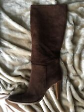BROWN SUEDE LONG BOOTS RAVEL SIZE 5