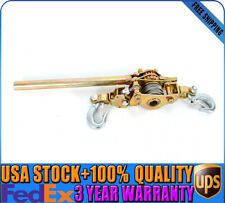 10%off 2 Ton Hand Lever Puller Come Along Double Hooks Cable Hd Hoist Ratchet