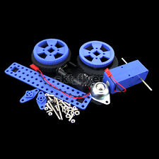 19*8.5cm Blue Electric Driver Car Kits Educational Diy Hobby Robotic Toy Model