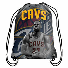 LEBRON JAMES CLEVELAND CAVALIERS PLAYER PRINT DRAWSTRING BACKPACK
