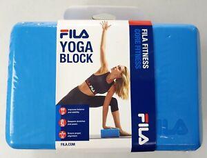 FILA Yoga Block (Blue) - Core Fitness - Balance/Alignment/Stability