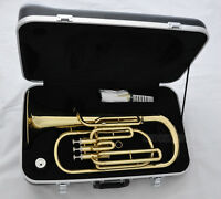 Top New Gold Baritone Horn 3 Piston Bb Keys With Case Free Shipping