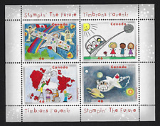 Canada Stamps - Souvenir sheet of 4 - Stampin' The Future #1862b - MNH