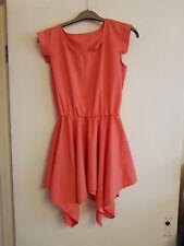 Orange sleeveless cover up/dress size 10-12