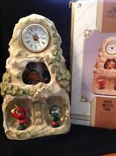 Melody In Motion Golden Mountain Porcelain Clock Gnomes Mine Dwarves NOT WORKING