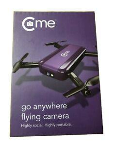 C-me Selfie Drone - 8MP Go Anywhere Flying Camera Brand NIB Sealed Purple