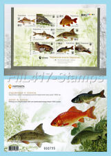 """2019 Ukraine. Imperforated stamp sheet - """"Freshwater fishes"""" in booklet."""