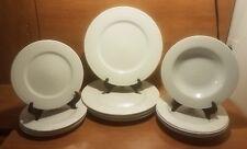 Tabletops Gallery Natalie 12 pc Dinnerware set, White, Embossed Rings,Very good.