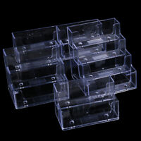 Desktop office business card holder transparent counter display stand accesFDD