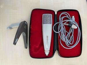 Sennheiser Mikrofon, um 1974, MD 421N, Nr. 35250, Stativ, Verpackung, Kabel