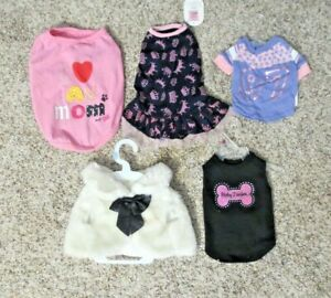 Girl Dog Clothes Outfits  Lot Of 5 Never worn NWT SIZE Small S