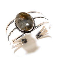 Preety Silver Plated Labradorite Bracelet Cuff Bangel Handmade Gemstone Jewelry