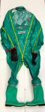 RESPIREX Tyb021/1406/38xl Entraînement Gaz Serré Chimique Suit Vert PVC