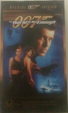The world is not enough VHS VIDEO CASSETTE TAPE JAMES BOND - 007