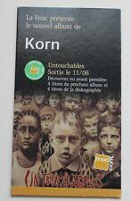 Korn, petite PLV pour l'album Untouchables