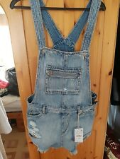 Pull and Bear Denim Dungaree Shorts New with tags Size M