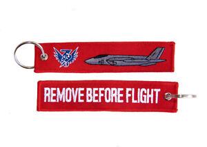3 SQUADRON F-35A Lightning II Remove Before Flight Key Ring Luggage Tag