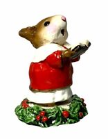 "Wee Forest Folk: ""Choir Mouse"" Christmas Figurine, Singing, Caroling, M-147"