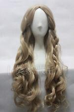 Princess Cinderella Long Curly Ash Blonde Movie Cosplay Wig + Wig Cap
