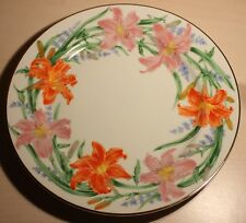 The Lenox Flower Blossom DESSERT PLATES by Suzanne Clee DAY LILY