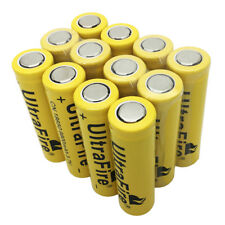 12X Flat Top 18650 Battery 9800mAh Li-ion 3.7V Rechargeable for Flashlight Torch
