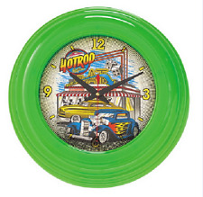 Hotrod Cafe Neon Wall Clock,Green Color,16'' LX 16'' H X 3 1/4'' W FREE SHIPPING