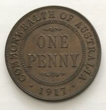 Australia 1 Penny King George V 1917 Bronze KM# 23