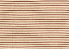 Richloom Fabric Baynrd Pomegranite Ticking Stripe  Cotton  Drapery  Upholstery