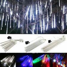 30cm 144 LED Lamps Meteor Shower Rain 8 Tube Xmas Snowfall Tree Outdoor Light RK