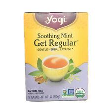 Yogi Soothing Mint Get Regular Tea Gentle Herbal Laxative 16 Bags Herbal 04/2021
