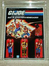 Vintage GI JOE 1987 AFA 95/95/95 SGT. SLAUGHTER'S RENEGADES ARAH HASBRO MOC!