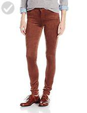 Kensie Jeans Women's Suede Skinny Pants EBH00467S - Deep Camel - Sz 30 - NEW