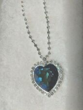 TITANIC HEART OF THE OCEAN NECKLACE 18 INCH ADJUSTABLE
