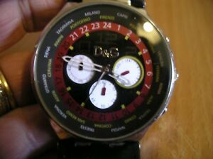 Dolce Gabbana Mens Designer Wrist Watch with original strap needs replacing