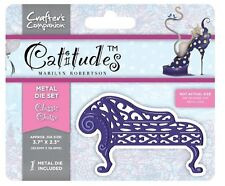 Crafters Companion Catitudes CLASSIC CHAISE Metal Cutting & Embossing Die