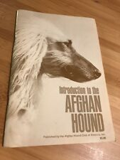 Introduction To The Afghan Hound 1983 Paperback Book Manual Pamphlet Vtg