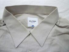 E7850 Olymp Tendenz Businesshemd Kombimanschette 43 Beige-Grau-Ton Neuwertig