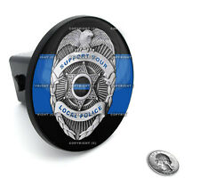 """2"""" Tow Hitch Receiver Plug Cover Insert For SUV's & Trucks - """"Blue Line Badge"""""""