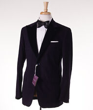 NWT $2895 SARTORIA PARTENOPEA Purple Jacquard Velvet Blazer 40 R Sport Coat